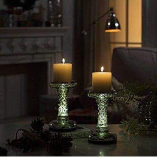Compare Glass Candlestick (Set of 2) ByAstoria Grand