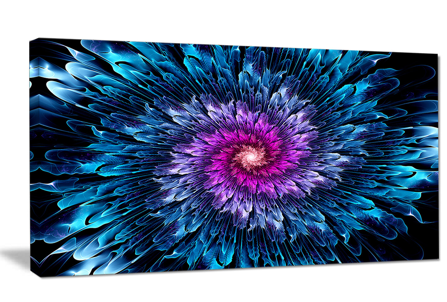 Designart Magical Glowing Fractal Flower Graphic Art On Wrapped Canvas Wayfair