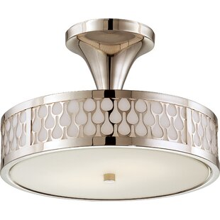 Millstone 2-Light Semi-Flush Mount by Beachcrest Home