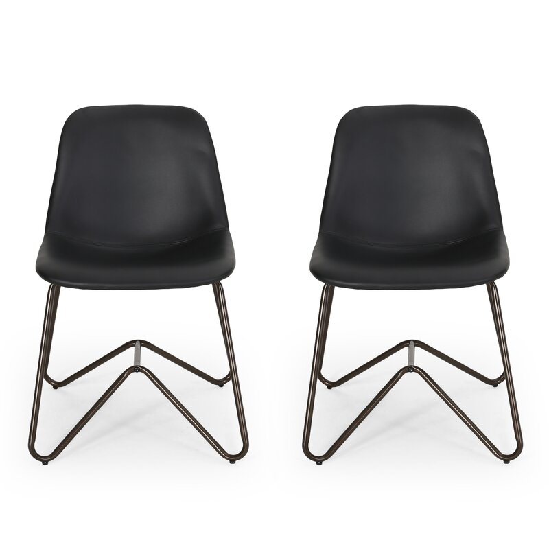 Alexzander Contemporary Faux Leather Dining Chair (Set Of 2)