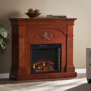 Cherry Wood Electric Fireplace | Wayfair