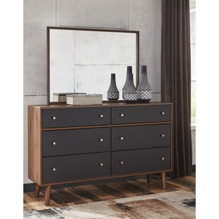 Find for Petersfield 6 Drawer Double Dresser with Mirror by Three Posts