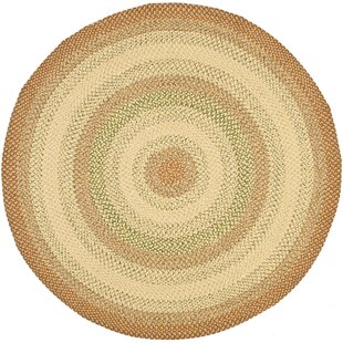 Georgina Hand-Braided Sand/Brown/Moss/Brick/Ivory Area Rug by August Grove
