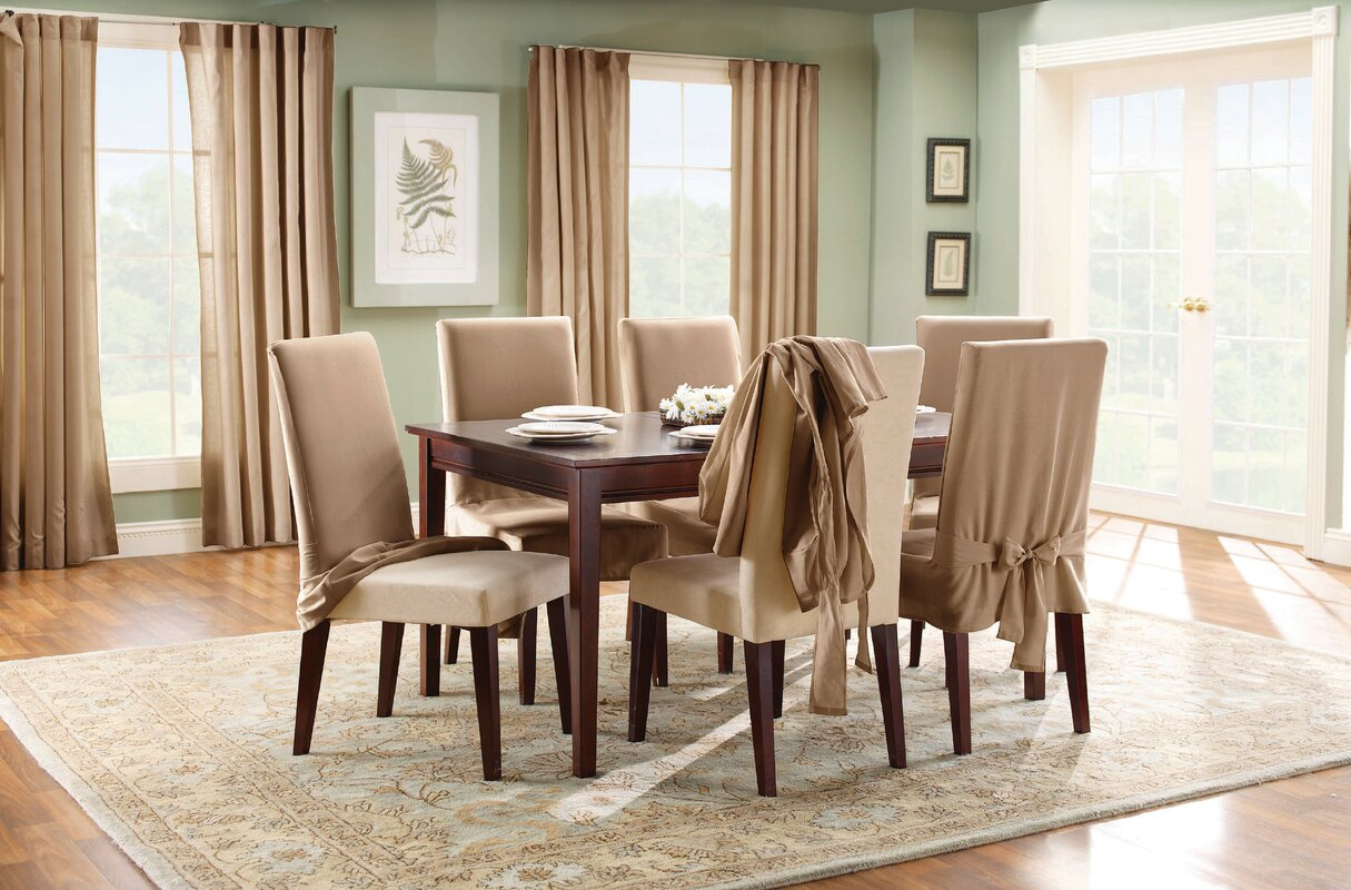 Sure fit cotton duck full length dining room chair slipcover cotton duck full length dining room chair slipcover sxxofo