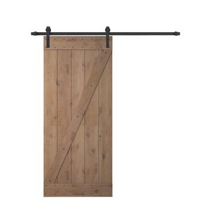 Bent Strap Sliding Door Track Hardware And Z Bar Primed Sliding Knotty Solid  Wood Panelled Alder Slab Interior Barn Door