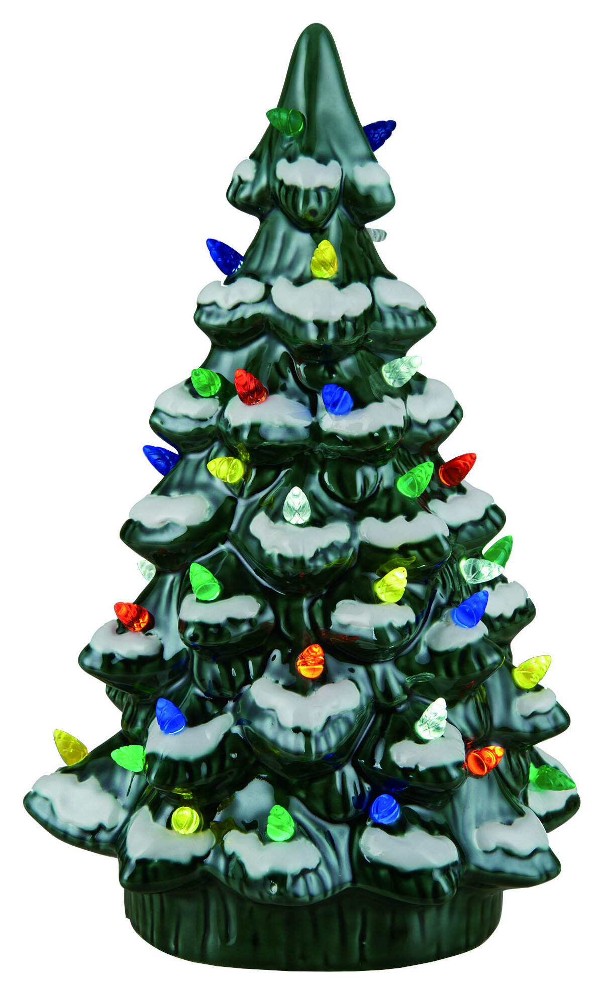 the holiday aisle walter ceramic light up tree decor wayfair - Ceramic Light Up Christmas Tree