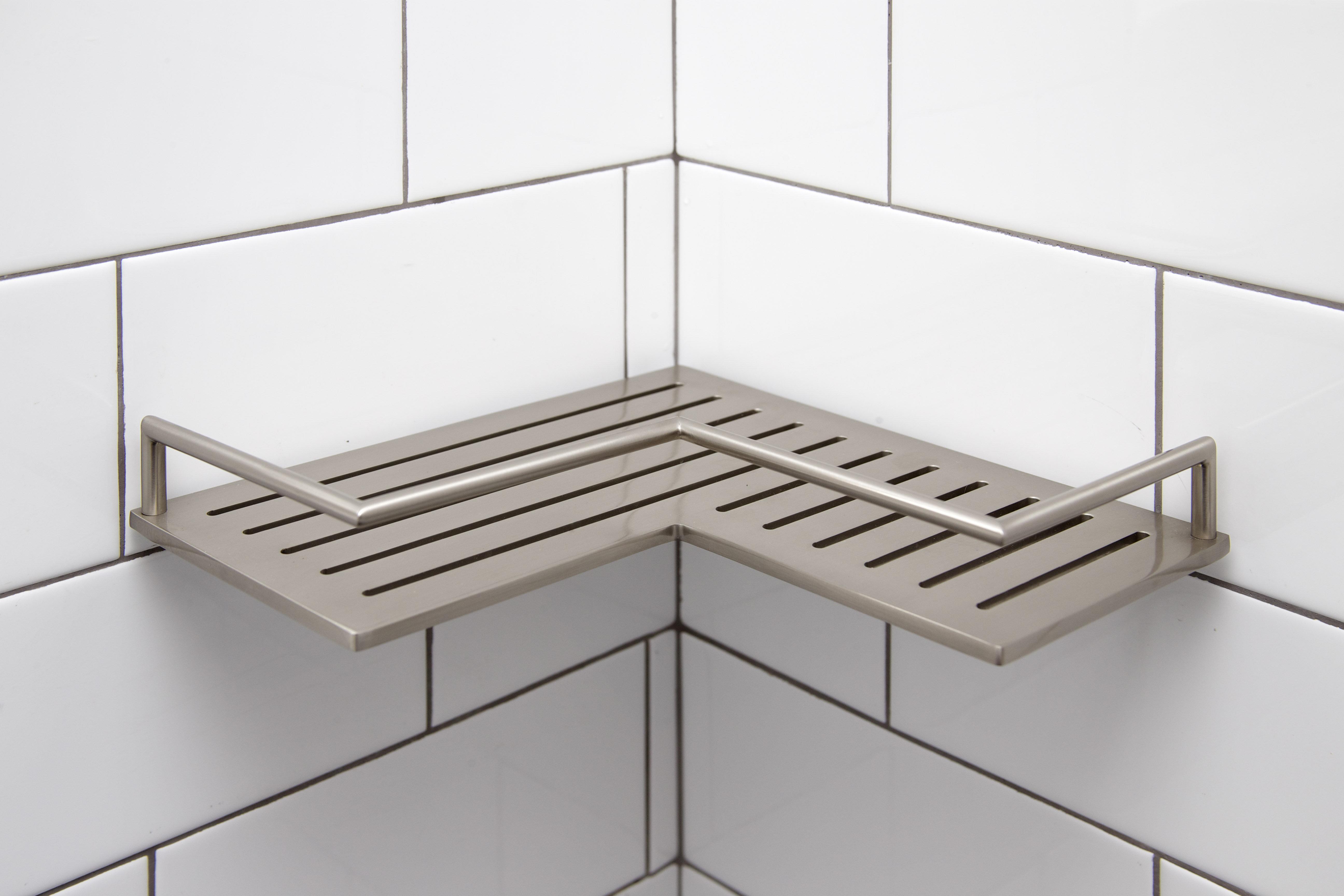Ginger Surface Stainless Steel Shower Shelf & Reviews | Wayfair