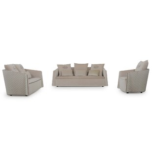 Mercer41 Cummings 3 Piece Living Room Set