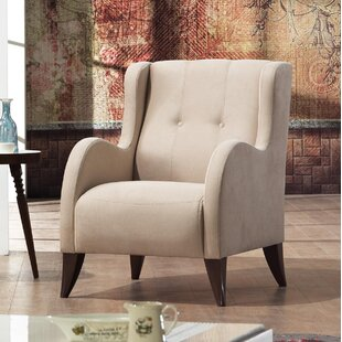 Brayden Studio Danos Modern Nubuck Wingback Chair