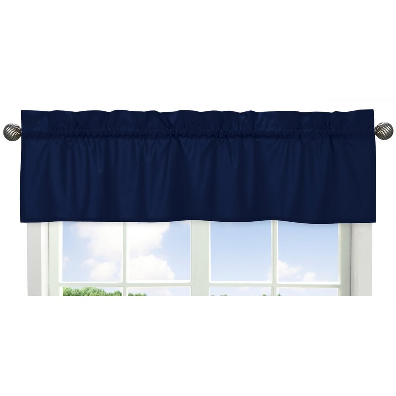 Sweet Jojo Designs Solid Navy Curtain Window Valance Reviews Wayfair