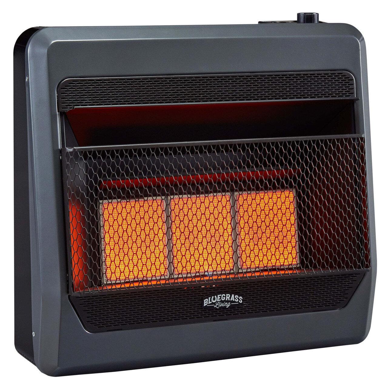Bluegrass Living Natural Gas Infrared Heater With Blower And Base Feet Wayfair