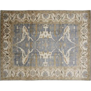 Bellview Loom Hand-Knotted Blue Area Rug