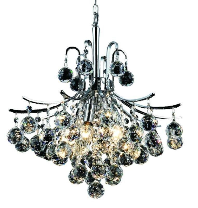 Toureg 6 light crystal chandelier