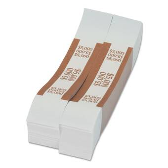 Mmf Industries Self Adhesive Currency Straps Blue 100 In Dollar Bills 1 000 Bands Per Box Wayfair