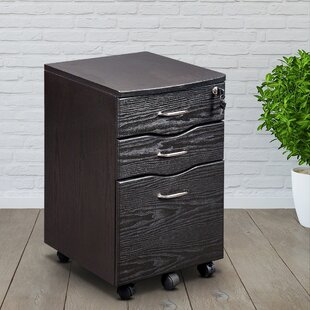 Rolling Storage 3 Drawer Vertical Filing Cabinet