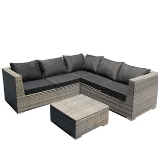 Corinne 4 Piece Sectional Set With Cushions