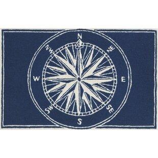 Walton Compass Navy Indoor/Outdoor Area Rug