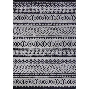 Read Reviews Cristhian Handmade Black/ White Area Rug By Gracie Oaks