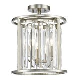 Cavanaugh 3 - Light Chandelier Style Cylinder Semi Flush Mount