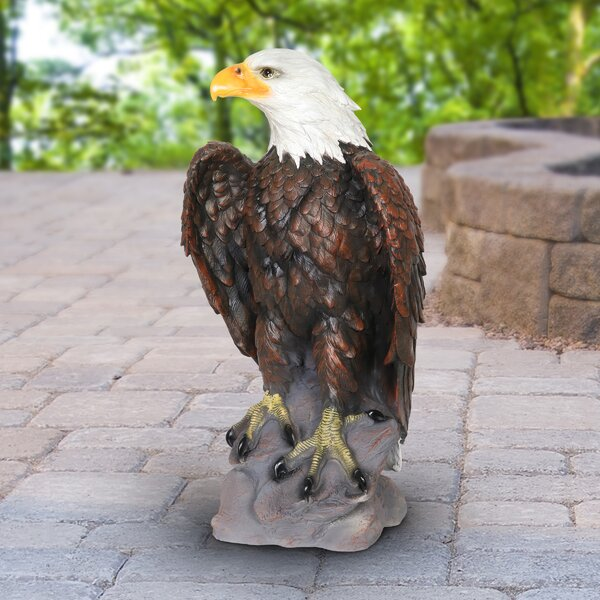 """American Bald Eagle Wall Hanging Realistic Resin 22/"""" Wide Patriotic"""