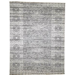 Price comparison One-of-a-Kind Blunt Mamluk Design Undyed Natural Hand-Knotted 8'2 x 10'7 Wool Gray/White Area Rug By Isabelline