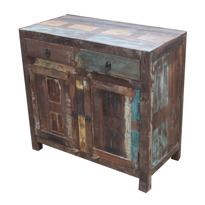 Gracie Reclaimed Wood 2 Door 2 Drawer Sideboard Accent Cabinet