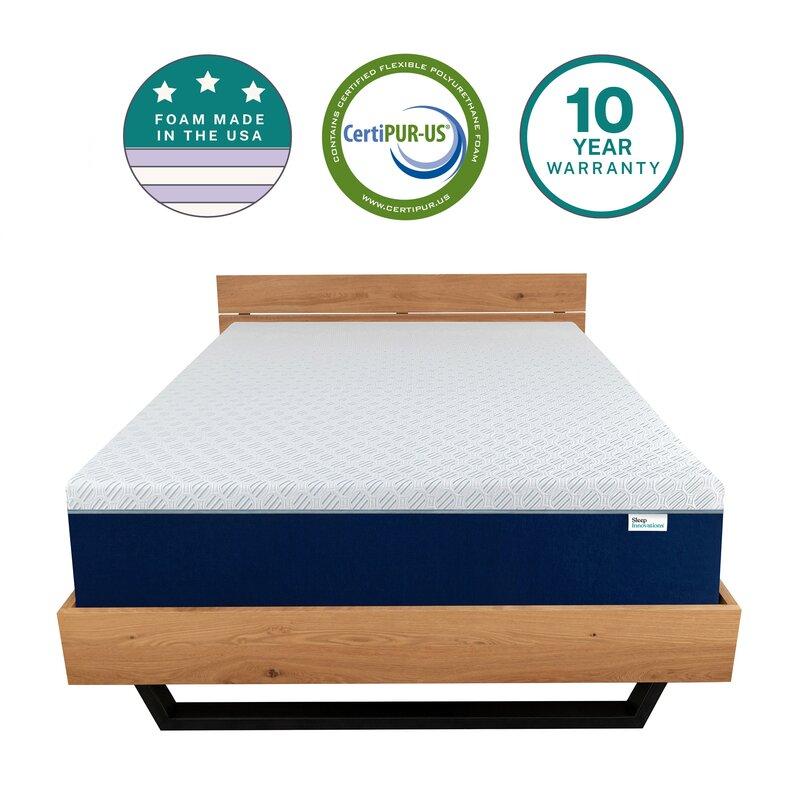 Sleep Innovations Shiloh 14 Medium Memory Foam Mattress Wayfair