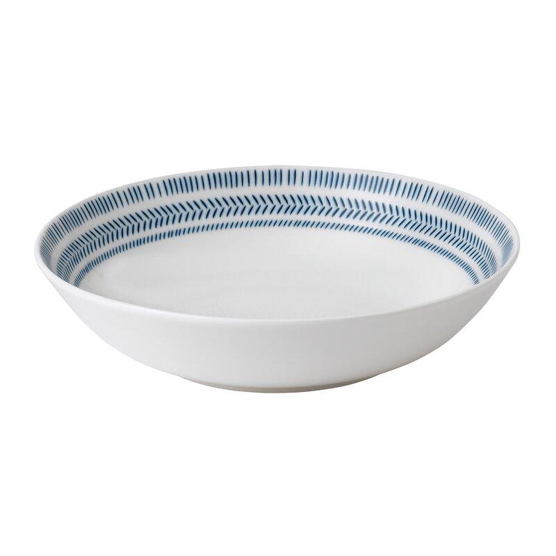 Cobalt Blue Chevron Pasta Bowl Joss Main
