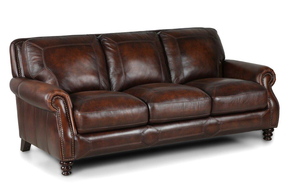 Goldhorn Leather Sofa