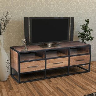 Anders Spacious Acacia Wood TV Stand for TVs up to 54''