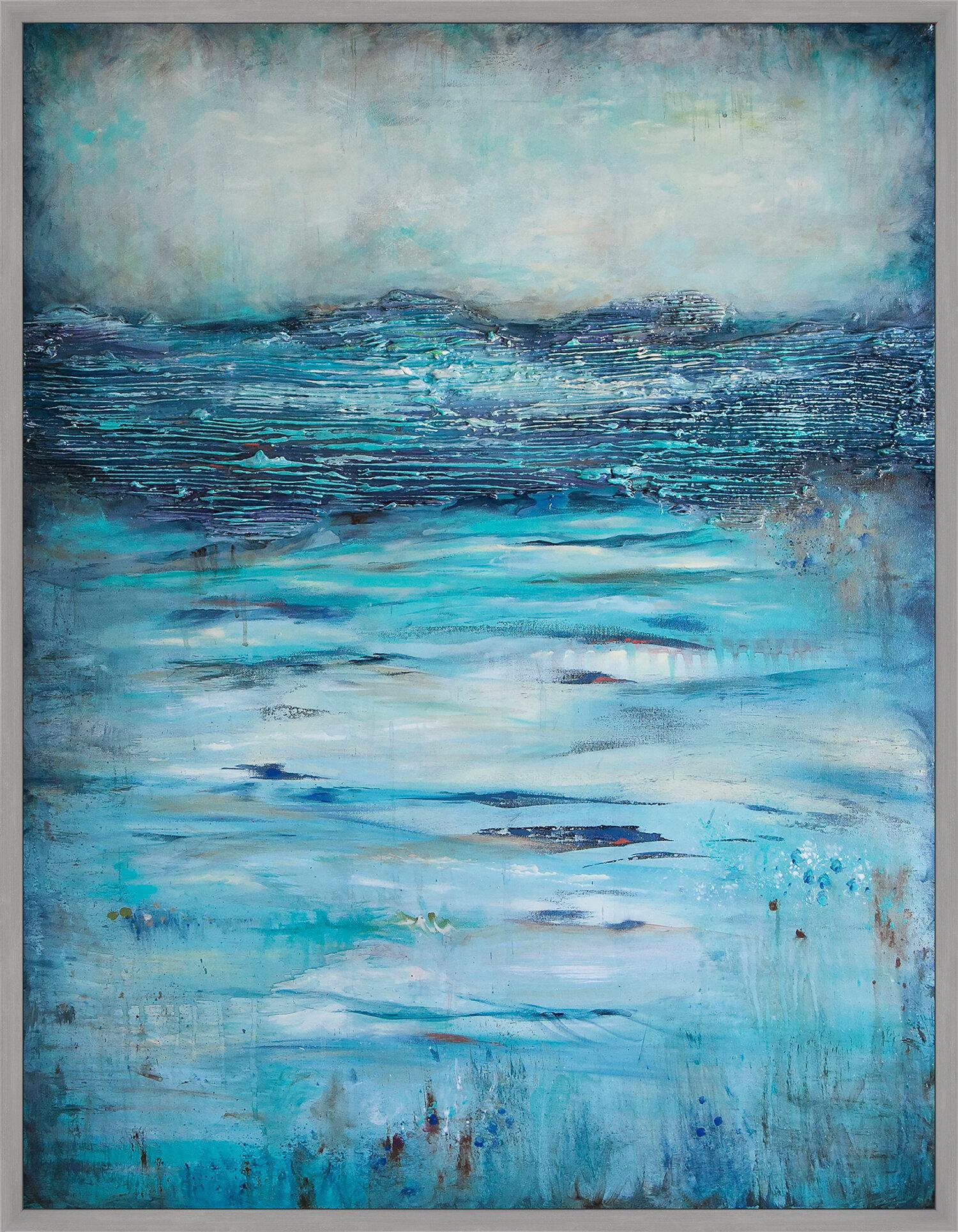 Ptm Images Mild Ocean Breeze By Michelle Hinz Framed Painting Print Wayfair