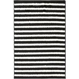 black and white striped rug. petite stripe hand-woven slate/pearl area rug black and white striped
