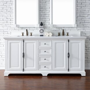 Ogallala 72 Double Cottage White Bathroom Vanity Set by Greyleigh
