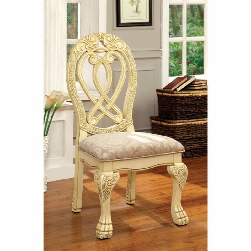 Perfect Barrymore Traditional Solid Wood Dining Chair Set
