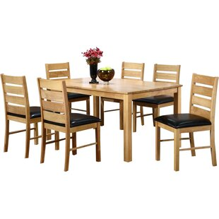 Platea Dining Set with 6 Chairs by Brick & Barrow