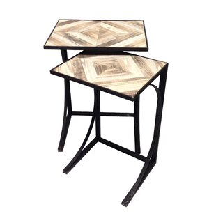 Lumberton 2 Piece Nesting Table by Wilco Home
