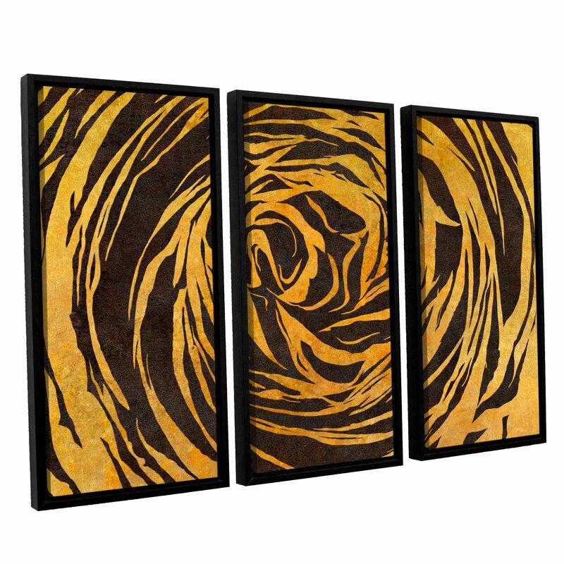 Latitude Run Buttercup Shape Contrast 3 Piece Framed Graphic Art Set Wayfair