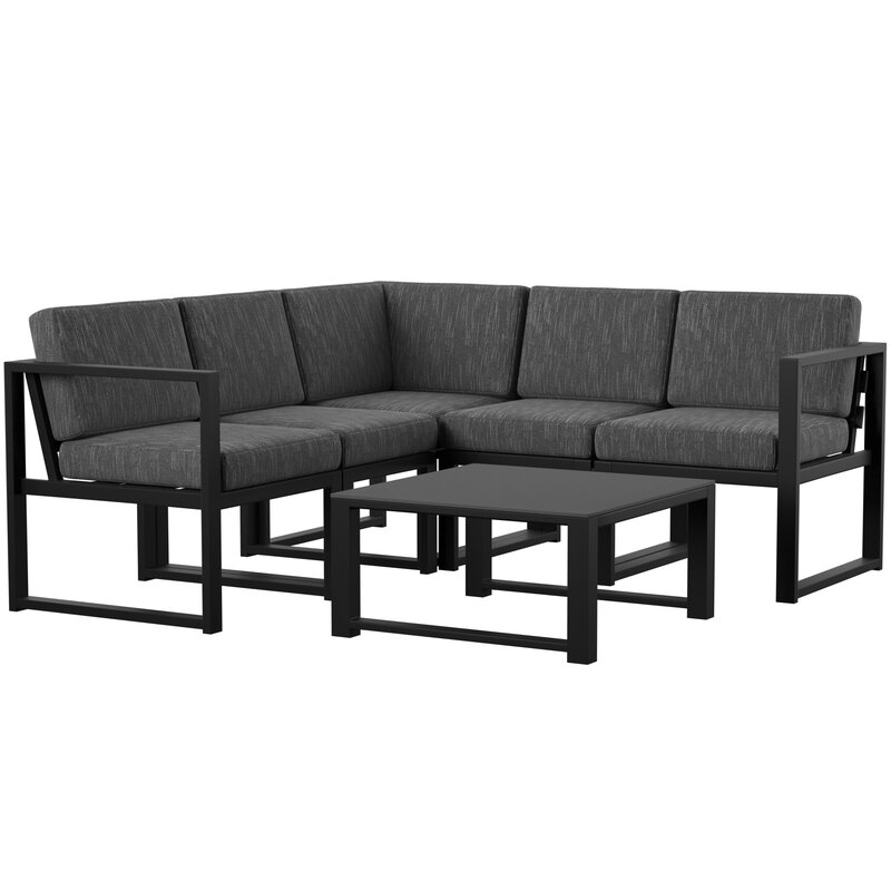 Mirando 6 Piece Sectional Seating Group with Cushions