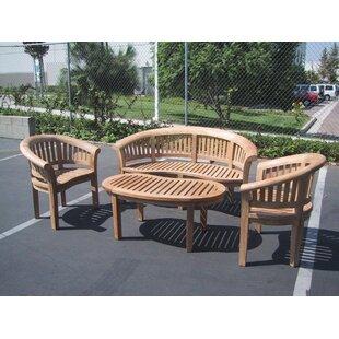 D-Art Collection Island 4 Piece Teak Sofa Set