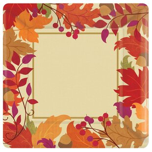 Autumn Festive Fall Paper Dinner (Set of 18)