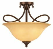 Bennington 3-Light Semi Flush Mount by Hardware House
