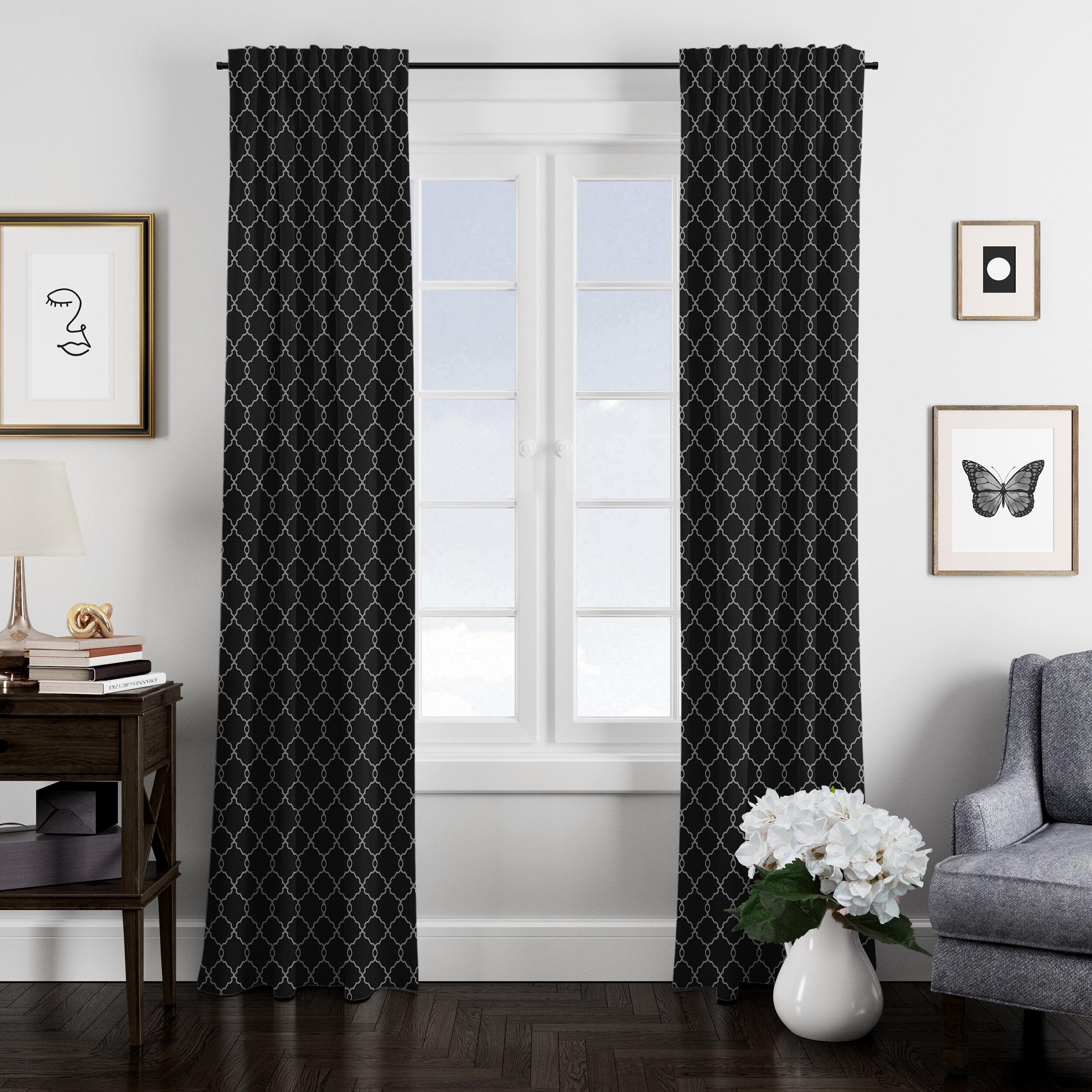 Colcha Linens Marrakesh 100 Cotton Geometric Room Darkening Rod Pocket Curtain Panels Wayfair