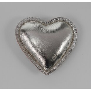 Floor 9 Gold Leather Heart Paper Weight