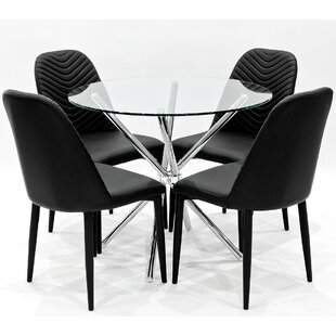 Criss Cross Dining Set With 4 Chairs By House Additions