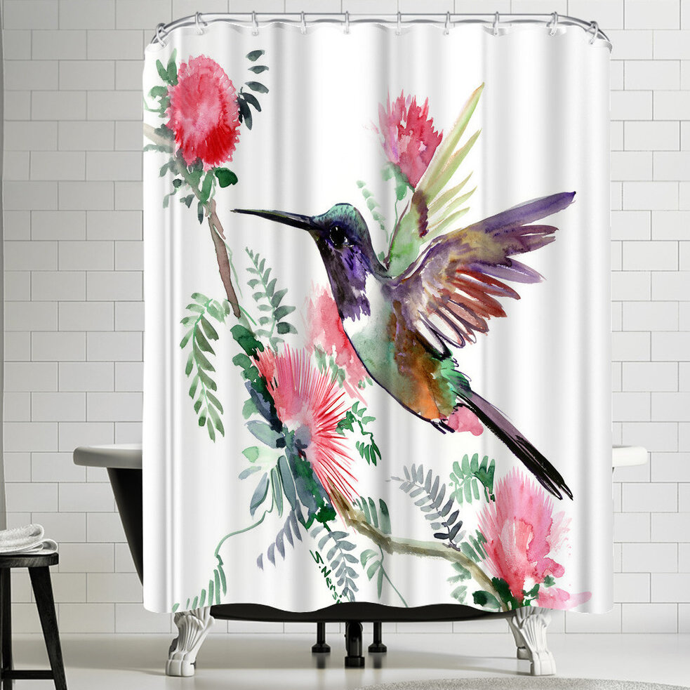 East Urban Home Suren Nersisyan Hummingbird Iiii Single Shower Curtain Wayfair