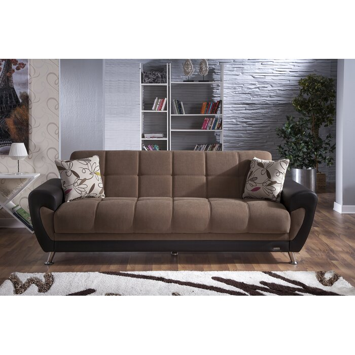 Istikbal Duru 3 Seat Sleeper Plato Dark Grey Sofa