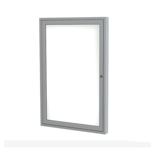 Ghent 1 Door Enclosed Porcelain Magnetic Whiteboard by Ghent