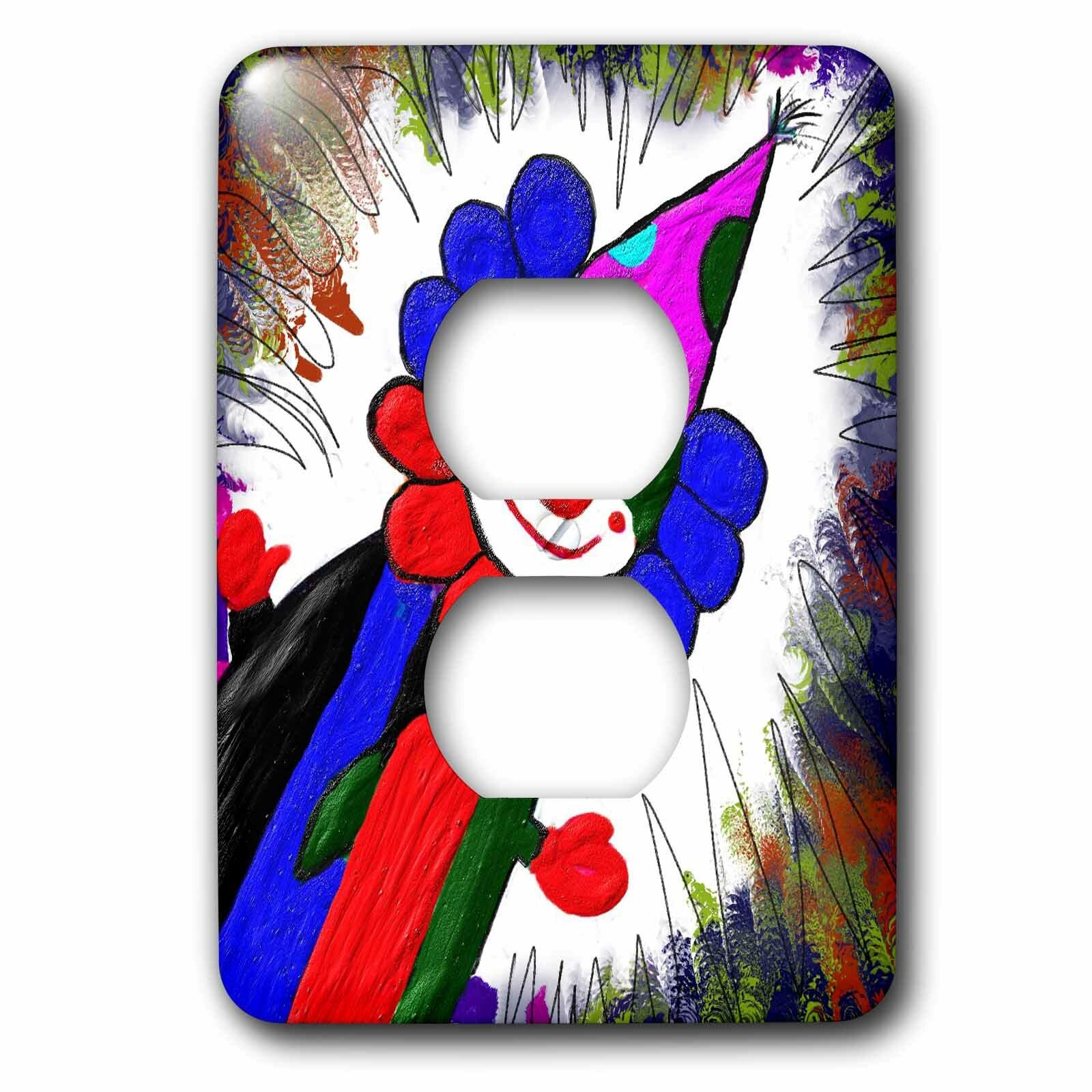 3drose Clown 1 Gang Duplex Outlet Wall Plate Wayfair