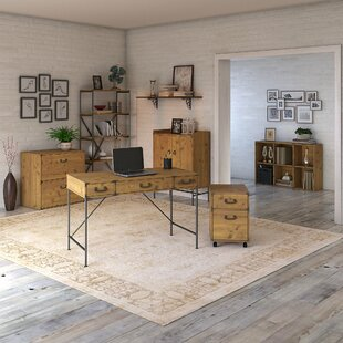 Ironworks Desk, Bookcase And Filing Cabinet Set by Kathy Ireland Home Bush Furniture Wonderful