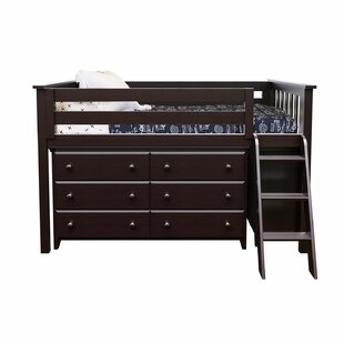 Ginny Twin Loft Bed with Dresser and Bookcase